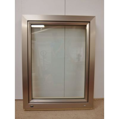 Tilt & Turn Window Aluminium Clad & Pine 975x1250mm FW003 Double Glazed & Blinds