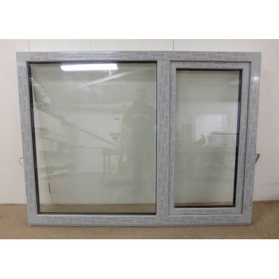 White Grey UPVC Plastic Casement Window 1744x1303mm FW014 Double Glazed