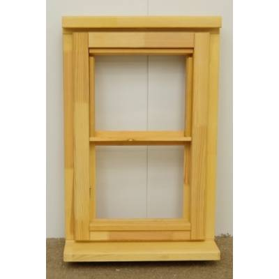 Wooden Timber Window Horizontal Centre Bar Casement Unglazed Jeldwen 483x745mm - Handing (externally viewed):