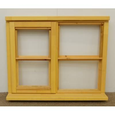 Wooden Timber Window Horizontal Centre Bar Casement Unglazed Jeld-wen 910x745mm - Handing (externally viewed):