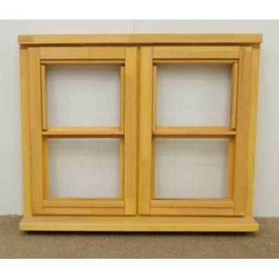 Wooden Timber Window Horizontal Centre Bar Casement Unglazed Jeldwen 910x745mm