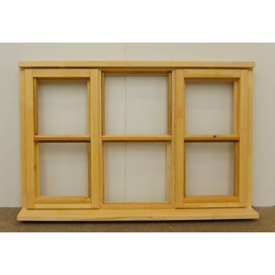 Wooden Timber Window Horizontal Centre Bar Casement Unglazed Jeldwen 1337x895mm