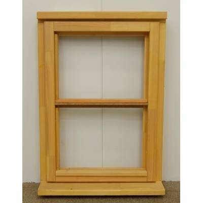 Wooden Timber Window Horizontal Centre Bar Casement Unglazed Jeldwen 625x895mm - Handing (externally viewed):