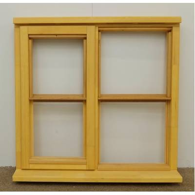 Wooden Timber Window Horizontal Centre Bar Casement Unglazed Jeldwen 910x895mm - Handing (externally viewed):
