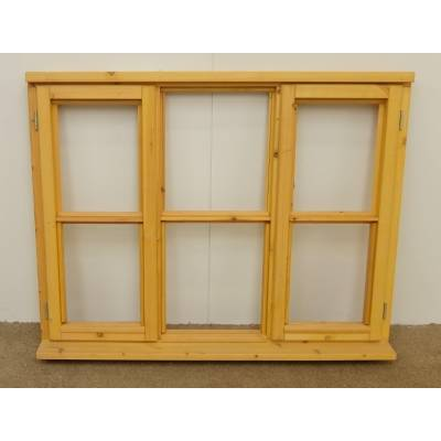 Wooden Timber Window Horizontal Centre Bar Casement Unglazed Jeldwen 1337x1045mm