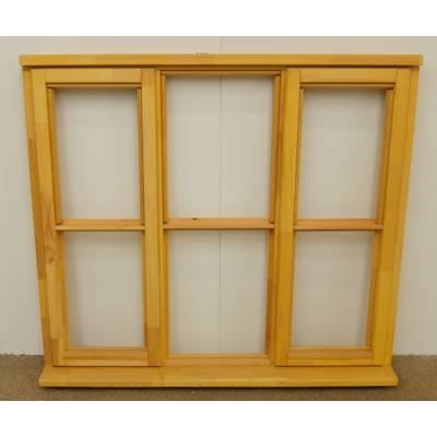 Wooden Timber Window Horizontal Centre Bar Casement Unglazed Jeldwen 1337x1195mm