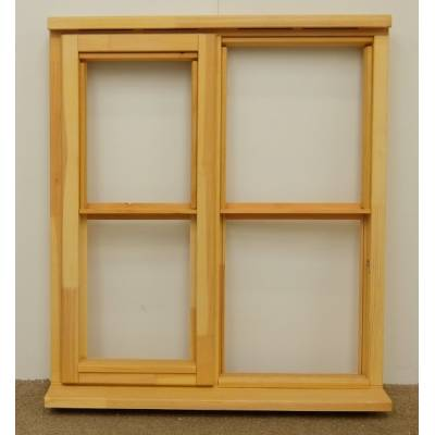 Wooden Timber Window Horizontal Centre Bar Casement Unglazed Jeldwen 910x1045mm - Handing (externally viewed):