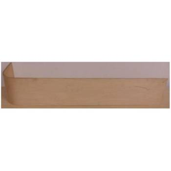 Ply stair riser half bullnose staircase curved round rounded bottom step D-shape