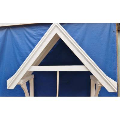 Door Canopy Porch Cover Rain Awning Timber Wooden Gallows Br...