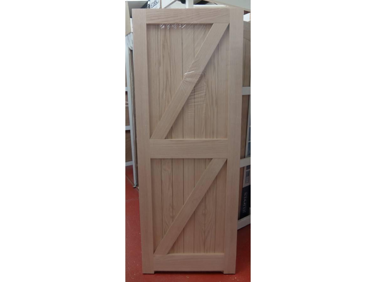Oak Frame, Ledged and Braced External Door FLB