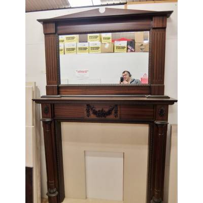 Mahogany effect Fire Surround Fireplace 1935x1280mm Wooden T...