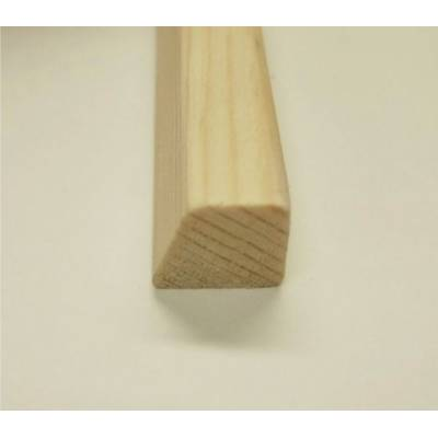 15x12mm Wedge Bevel Wooden Softwood Pine Bead Beading Timber...
