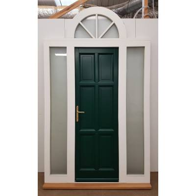 Door & Frame Set Arched Toplight Sidelight External 1560...