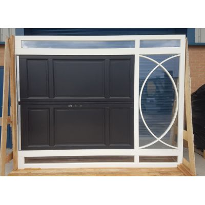 External French Door & Frame Set Toplight Timber Wooden ...
