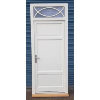 External Door & Frame Set Toplight Timber Wooden Front Pre-hung Solid Paneled
