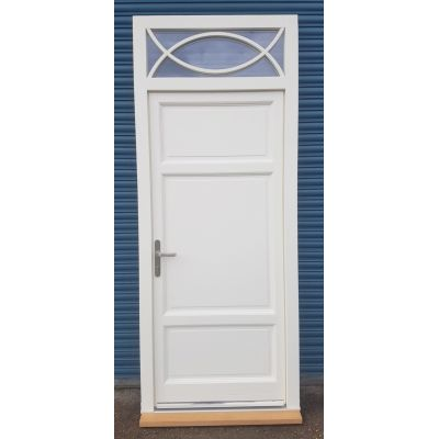 External Door & Frame Set Toplight Timber Wooden Front P...