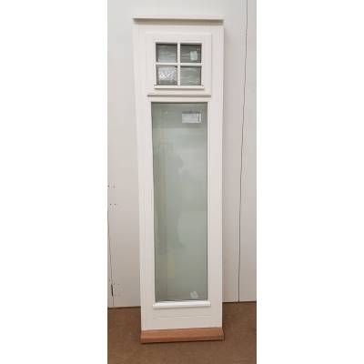 Timber Window Sidelight External White Finished Wooden Exter...