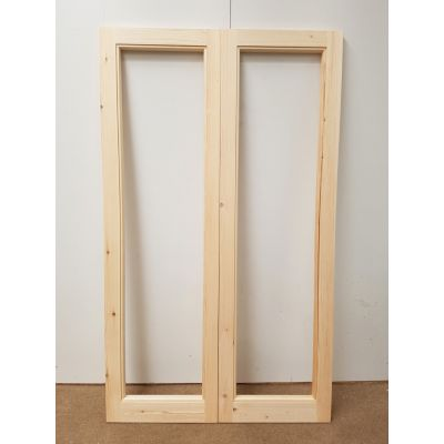 French Door Pair Timber Wooden Patt 20 Pine Bespoke Made To ...
