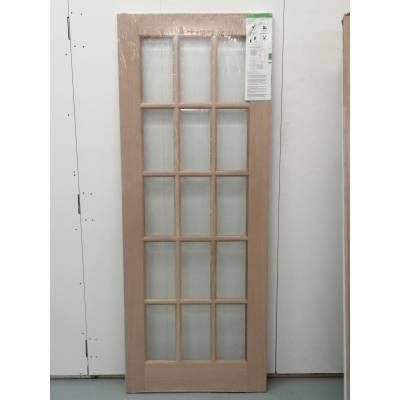 15 Light SA Oak Glazed Internal Door 78x30 Wooden Timber 198...