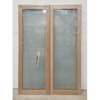 1190mm Oak French Doors MIXED FINISH JWD12