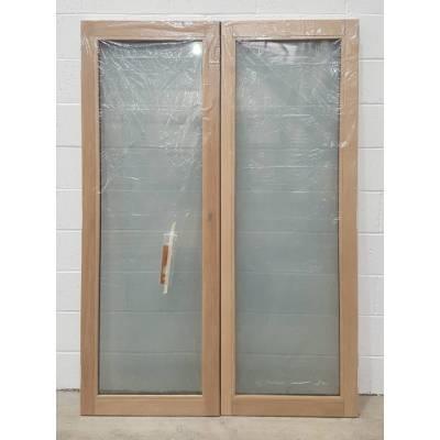 Wooden Timber Oak French Doors Patio External 1190x2090mm Bu...