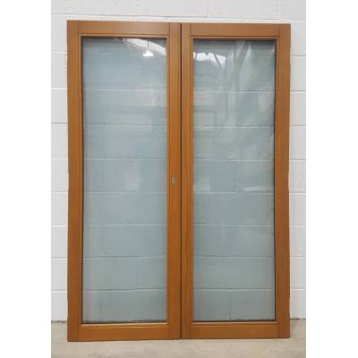 Wooden Timber Oak French Door Pair Patio External 1395x1988m...