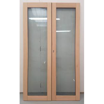 1406x1974mm Oak Glazed French Doors JWD20