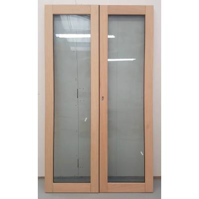 Wooden Timber Oak French Doors Patio External Glazed Pair 11...