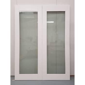1452x1974mm White Glazed French Doors JWD27