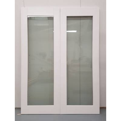 Wooden Timber White French Door Pair Patio External Glazed 1...
