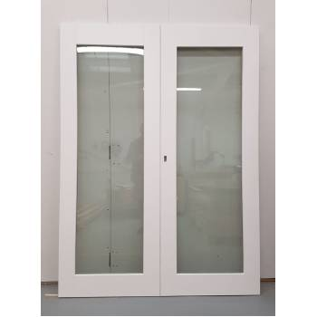 1452x1974mm White Glazed French Doors JWD31