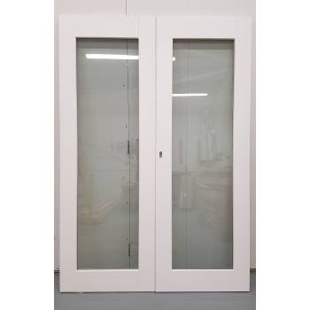 1406x1974mm White Glazed French Doors JWD28
