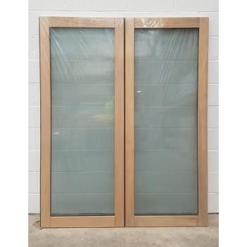 1570x1974mm Oak Glazed French Doors JWD22