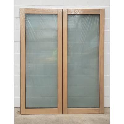 Wooden Timber Oak French Doors Patio External Glazed Pair 15...
