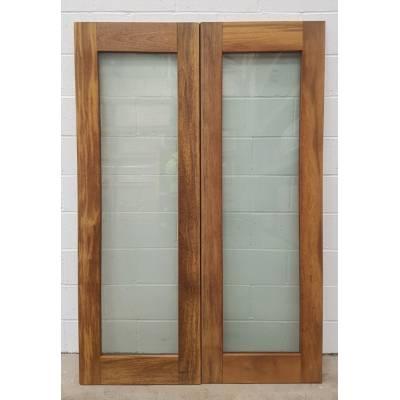 Wooden Timber Hardwood French Doors Patio External Glazed Pa...