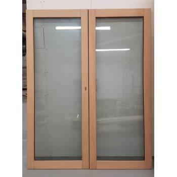 1570x1974mm Oak Glazed French Doors JWD23