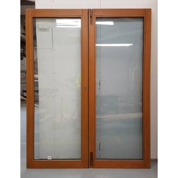 1542x1974mm Oak Finished French Doors JWD02