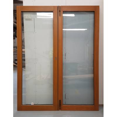 Wooden Timber Oak French Doors External Glazed Pair Finished...