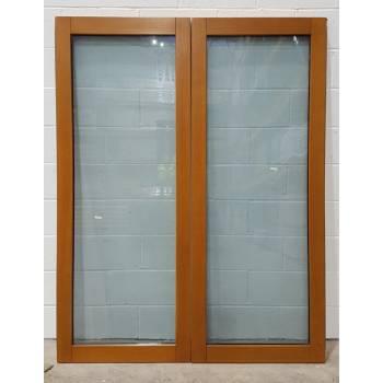 1452x1974mm Oak Finished French Doors JWD04