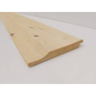 Rebated Shiplap Timber Softwood VAC VAC Treated Shed Cladding Board 110x14mm  - Length:
