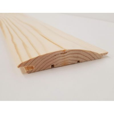 Loglap Timber Pine Softwood T&G Log Lap Board 106x20mm C...