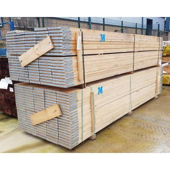 Scaffold Boards Graded BS Kitemarked BS2482:2009 Banded 3.9m 13' 38x225mm 9x1½""