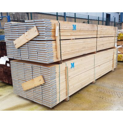 Scaffold Boards Graded BS Kitemarked BS2482:2009 Banded 3.9m...