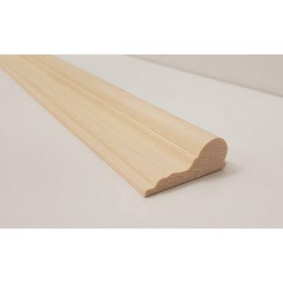 Picture rail decorative trim moulding 2.4m beading wooden ti...