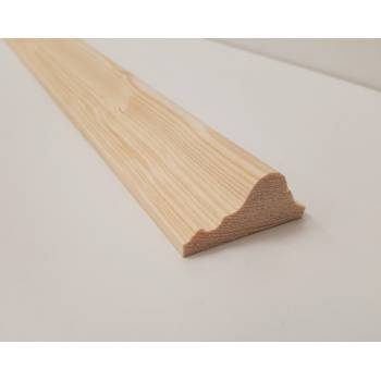 2.4m 45x21mm Dado Rail Trim Bead Moulding Timber Pine Wooden Timber Decorative