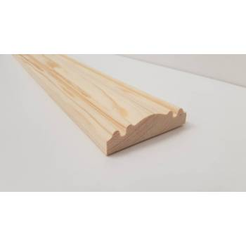 4.8m 69x19mm Dado Rail Timber Pine FC165 Richard Burbidge Wooden Timber