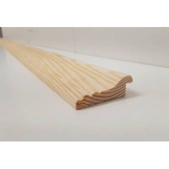 Dado Rail Rebated Timber Softwood Pine Wooden  Picture Cladding Trim 2.4m 53x19mm