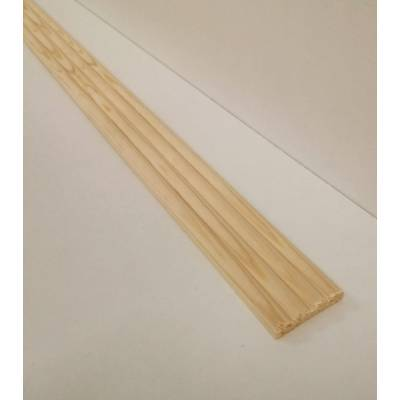 Reeded softwood decorative trim moulding 34x6mm 2.4m beading...