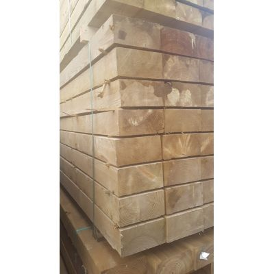 Treated Timber Sawn Post Railway Sleeper Garden Bed 240x120m...