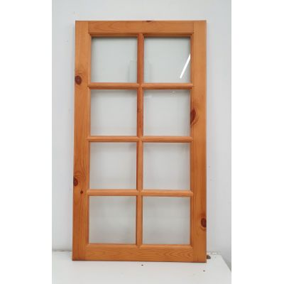 Pine Kitchen Cabinet Door Glazed 8 Light Display Cupboard 90...